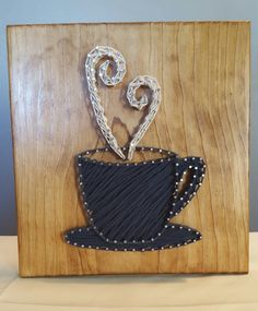 Coffee Cup String Art, Handmade! by Kristiestringart on Etsy