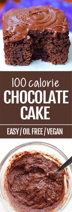 This 100 calorie chocolate cake recipe gets rave reviews every time I make it. No one can believe it isn't full of fat and sugar!