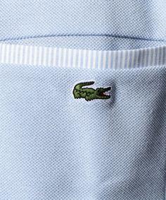 【ポケット付き ポロシャツ (半袖)】定番の『L.12.12』に、フィット感あるボタン付きポケットを…