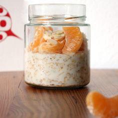 Overnight Oats Honig Lebkuchen Mandarine 2