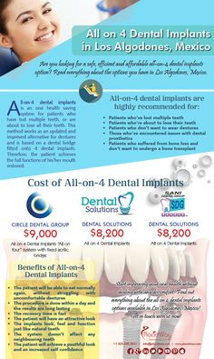 Want to have the all inclusive dental work that will last? Sani Dental Group, located in Los Algodones, Mexico, offers an affordable All on Four Nobel Dental Implants Package. #dentalimplants #mexico @placid
