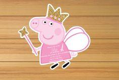 He encontrado este interesante anuncio de Etsy en https://www.etsy.com/es/listing/256966778/pink-gold-peppa-pig-birthday-invitation