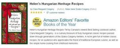 Helen's Hungarian Heritage Recipes - recognized by Amazon - chosen as Editor's favourites - 2014