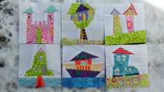 Wonky House Blocks on White... | And here are my half dozen … | Flickr