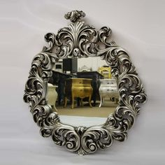 Antoinette Mirror Silver Leaf furniture, gold, furniture accessories