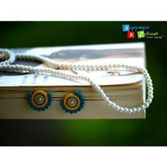Handmade Stud Earrings - Online Shopping for Earrings by Happiness Ki Dukaan-Jewellery-Happiness Ki Dukaan