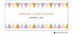 Baby Shower Banner Candy Wrapper - fits Hershey Bar