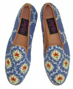 Pierre Deux loafers. French blue.