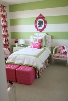 pink and green room - Google Search
