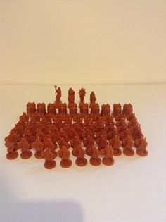 Risk Godstorm Replacement Greek Brown Tan Replacement Board Game Figures Pieces #MiltonBradley