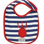 Organic Cotton Paw bib from Piccalilly