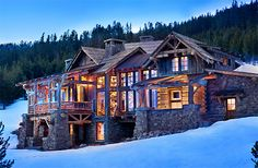 Rustic Mountain Home Designs Of Well Rustic Mountain House Exterior Design Ideas Cool Mountain Home Design Ideas - Lifestyle & Interior Design Trends Cabin Homes, Log Homes, Timber Homes, Rustic Exterior, Cabin In The Woods, Traditional Exterior, Traditional Kitchen, Home Fashion, My Dream Home
