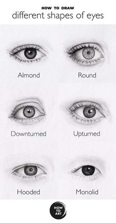 How to draw different shapes of eyes | How-to-Art.com