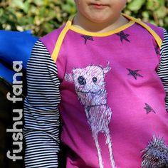 FushuFana: Camiseta con monstruos Käpynen / Monster T-Shirt (Three Times T, Ottobre design)