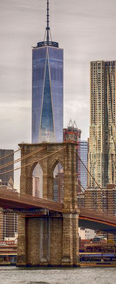 Brooklyn Bridge, One World Trade Center & Beekman Tower - New York City | US