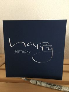 Liebe Besucher heute habe ich zum erstenmal meinen eigenen Schriftzug in eine Schnittdatei umgewandelt und so eine Geburtstagskarte ges...