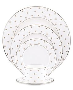 just try to resist adding this adorable kate spade place setting to your registry