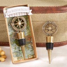 Our Adventure Begins Compass Design Bottle Stopper (Kate Aspen 11145NA)   Buy at…