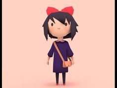 Low Poly Girl [Speed Modeling] - YouTube
