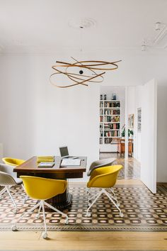 home office with Duna chairs by lievore altherr molina for Arper