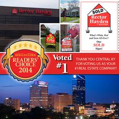 Thanks Lexington and Central KY for voting us #1 Real Estate Company in the Herald Leader Reader's Choice Awards!  http://kentucky.secondstreetapp.com/l/2014-Readers-Choice/Ballot/PROFESSIONALSERVICESHEALTH