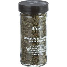 Morton and Bassett Basil - .5 oz - Case of 3 - A versatile herb commonly found in Italian and French recipes. Basil has a natural affinity for egg or seafood dishes or pasta sauces. Try a teaspoon on summer vegetables, salads and cooked squash to enliven flavor. Exceptional in tomato dishes or with cheese and olive oil.All Natural, Salt Free, No MSG, No Preservatives, Non-IrradiatedIngredients: Basil. Organic: NA Gluten Free: No Dairy Free: No Yeast Free: No Wheat Free: No Vegan: No Kosher…