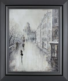 Paris Walk II by Peter Kyjanista Framed Painting Print