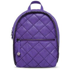 Stella Mccartney Falabella Quilted Shaggy Deer Mini Backpack ($1,120) ❤ liked on Polyvore featuring bags, backpacks, animal backpack, leather rucksack, knapsack, backpack and real leather backpack