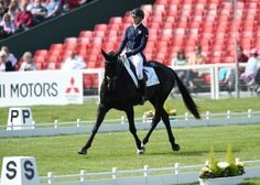 Emily King riding Brookleigh GBR during the Dressage phase of The Mitsubishi Motors Badm... </p> <div class=