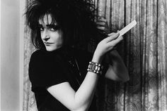 Siouxsie backcombed her hair