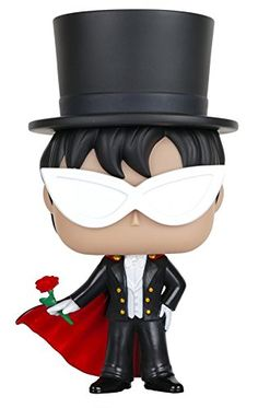 Funko POP Anime: Sailor Moon - Tuxedo Mask Action Figure ...