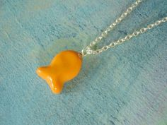 Goldfish Polymer Clay Charm Necklace