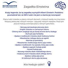 Zagadka Einstein'a #einstein #emc #emcszpitale #umysl #cwiczymyumysl #zdrowie #medycyna #nauka #zdrowaglowa