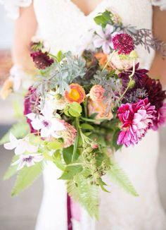 Burgundy maroon bouquet