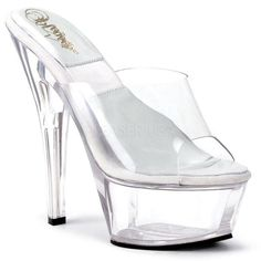 SOL-601D Sexy Clear Pole Dancing Shoes Stripper Style - Miss Hollywood