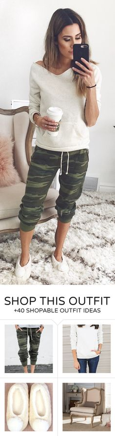 #spring #outfits White Knit & Army Cropped Pants
