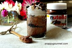 (Slow Cooker) Nutella Crunch Cheesecakes