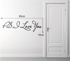 Hot selling PS I Love You Vinyl wall quotes stickers sayings home art decal Ps I Love You, My Love, Felt Pictures, Vinyl Wall Quotes, Home Art, Wall Stickers, Promotion, Decal, Sayings