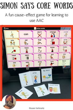 Kidz Learn Language: He Can't? I Bet He Can! AAC users with Complex Communication Needs and/or motor issues need us to think outside the box for AAC solutions. Speech Language Therapy, Speech And Language, Speech Therapy, Speech Pathology, Communication Development, Language Development, Vocabulary Activities, Speech Activities, Action Words