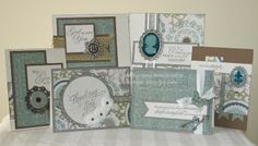 Gina's Little Corner of StampinHeaven: January Girl's Night Out Event - Sympathy and Thinking of You Cards with Avonlea Heart Projects, Little Corner, Paper Crafts, Diy Crafts, Quick Cards, Heart Cards, Close To My Heart, Sympathy Cards, Girls Night Out