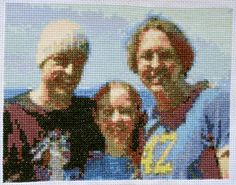 Upload a photo to this site it outputs a cross-stitch pattern... for FREE!