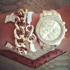 Stacked Bracelets Watch