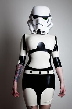 Star Wars Stormtrooper Inspired Rubber Latex Dress. $595.00, via Etsy. - show of hands, who's chipping in for this??