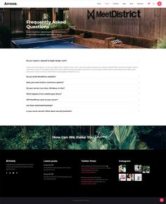 Arrosa–FAQ Page Import the full Arrosa WordPress theme demo and have your business website up and ready in no time. Magazin Covers, Business Website, Web Design, Team Building, All Modern, Creative Business, Wordpress Theme, Ecommerce, Design Inspiration