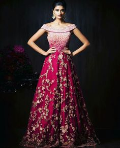 Shyamal Bhumika| Pink |Red | Cocktail Gown