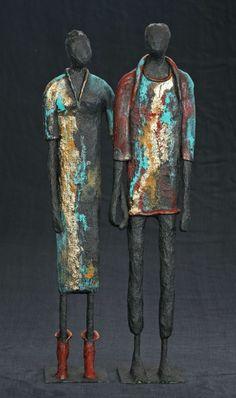 Human Sculpture, Sculptures Céramiques, Paper Mache Sculpture, Abstract Sculpture, Wood Sculpture, Bronze Sculpture, Ceramic Sculpture Figurative, Figurative Art, African Crafts