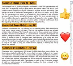 Which decan do you fall into? #cancer #cancer #cancerseason #cancerzodiac #cancerteam #cancerworld #cancergang #cancerbaby #cancerhoroscope #teamcancer #bornascancer #iamcancer #cancerthing #june #july #moonchild #cancerwoman #cancerman #crab #zodiacsign #zodiacthingcom #zodiactees