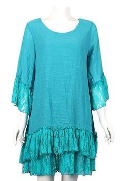 Pretty Tunic 1X& 2X Plus Size Vintage Gypsy boho layered Tunic Mini Dress#YC937C