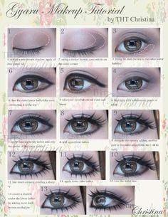 How to make my not-so-huge eyes BIGGER and BRIGHTER! { might be good for costume make up} Doll Eye Makeup, Lolita Makeup, Gyaru Makeup, Asian Makeup, Hair Makeup, Korean Makeup, Bigger Eyes, Huge Eyes, Japanese Makeup