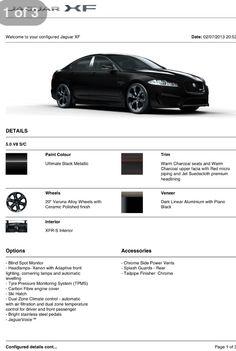 Jaguar XFR - S My options Pic 3